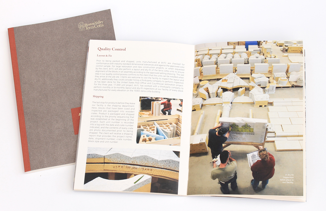 Book design and layout for architectural manufacturer