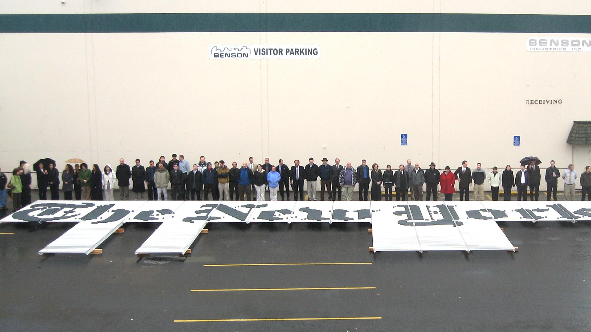 New client, architectural manufacturer, Benson Industries, Branding