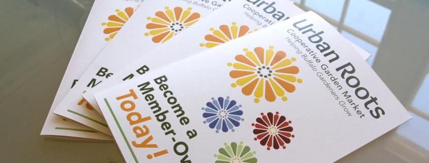 Brochure design, member brochure, garden market, branding