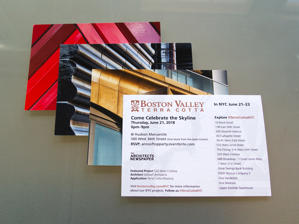 Postcard design for an architectural event in New York City