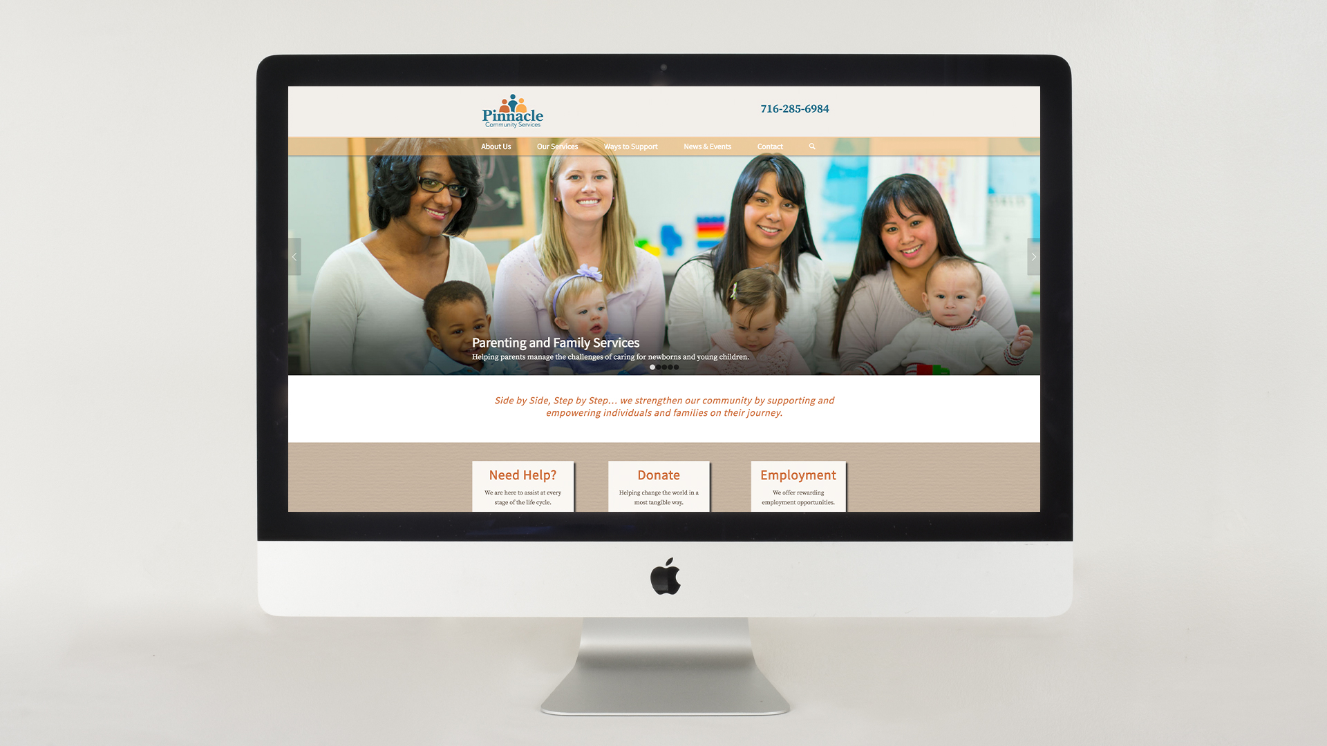 Website re-design for a community services organization in Niagara Falls NY
