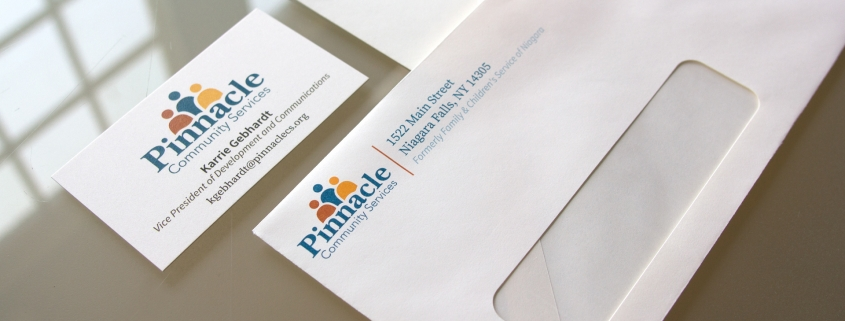 Stationary design for a non-profit including envelopes and business cards