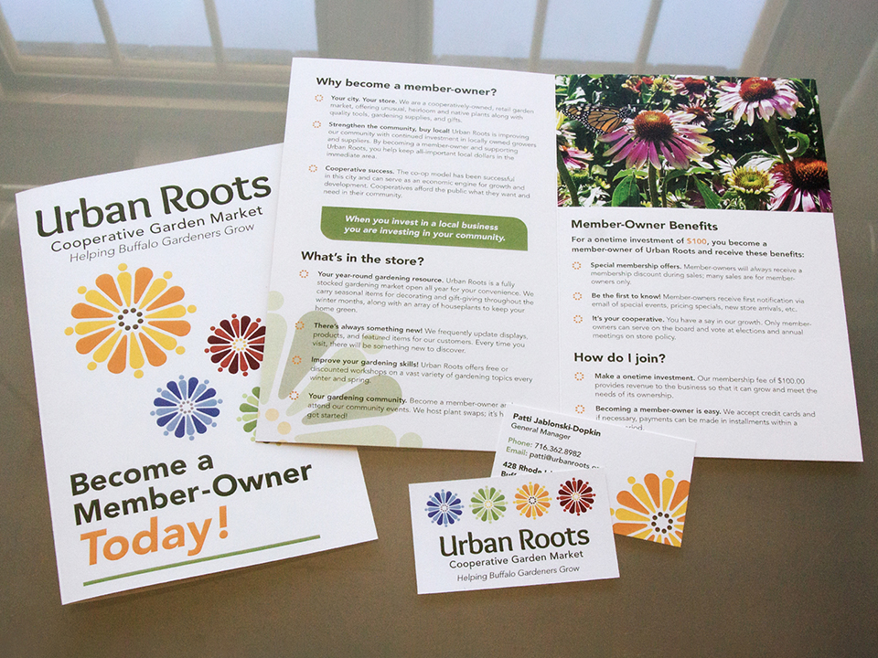 Urban Roots stationary, brochures, business card design by OtherWisz Creative