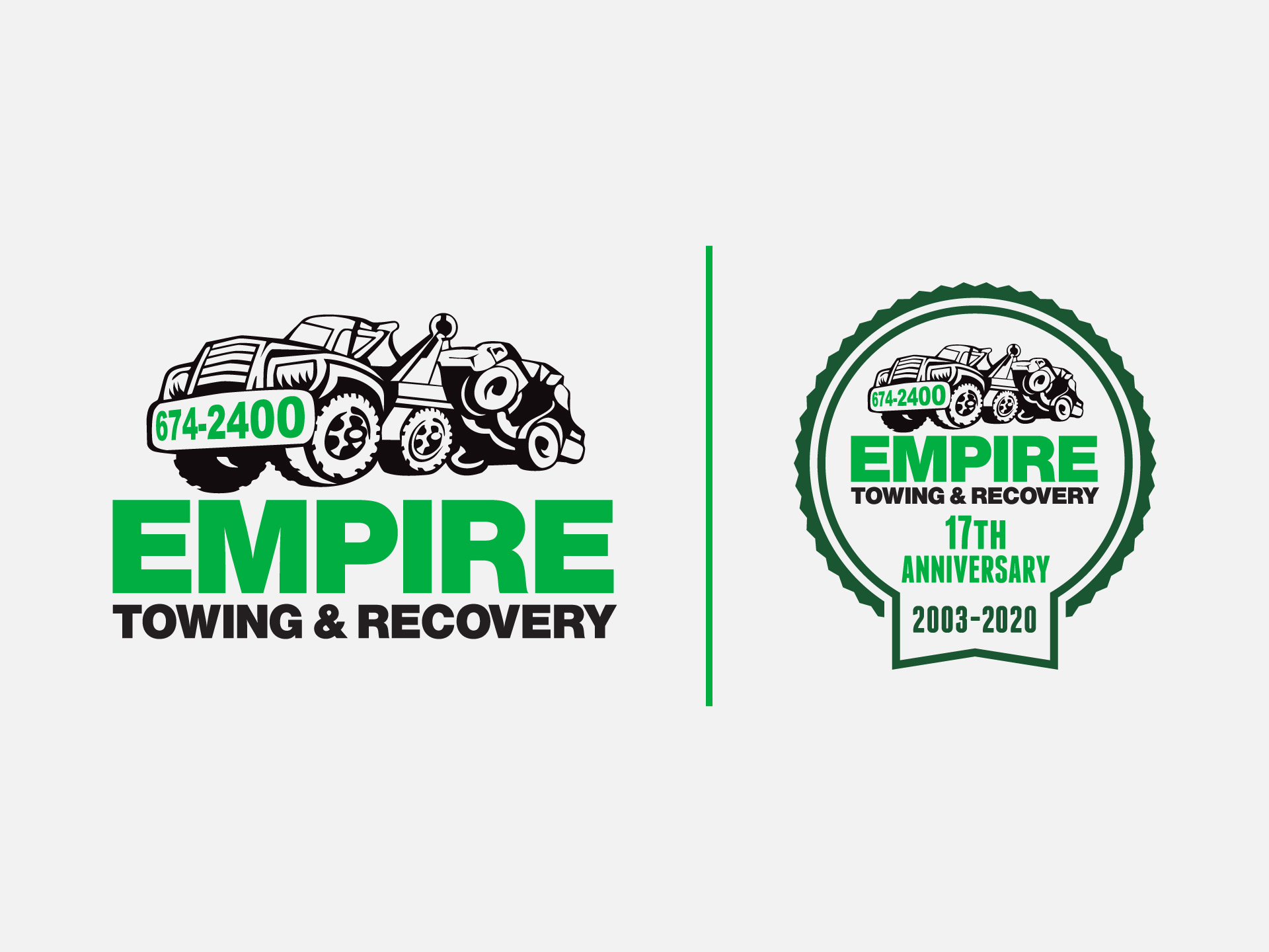 Empire Towing Logo Design, illustration, marketing, Western New York