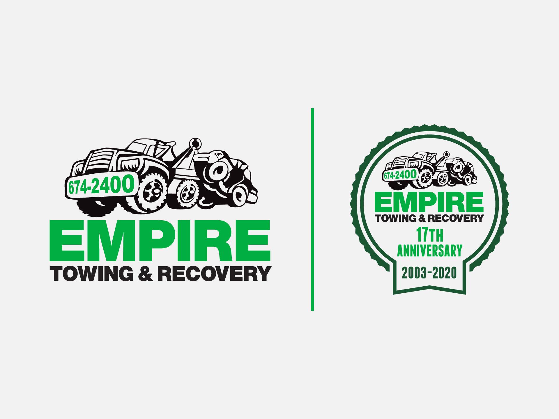 Empire Towing Logo Design, illustration, marketing, Western New York