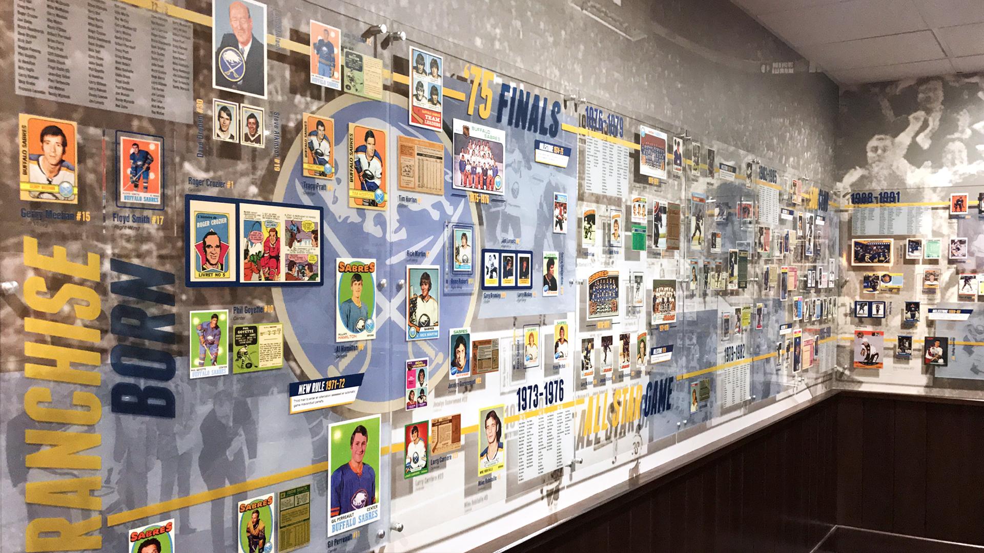 Exhibition design for the Buffalo Sabres Alumni room
