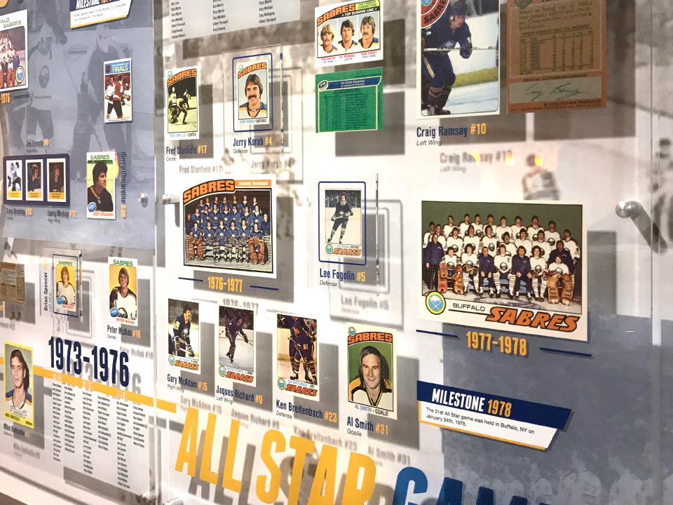 Exhibit design for the Buffalo Sabres Alumni room