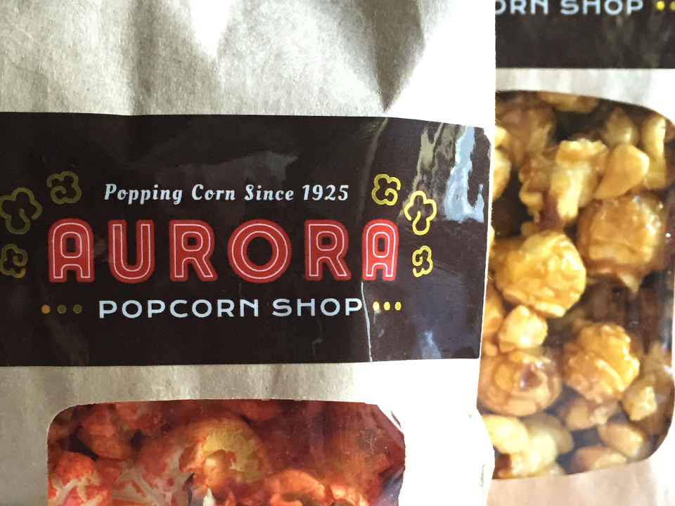 Popcorn Shop, Branding, Marketing materials, Label design, logo design