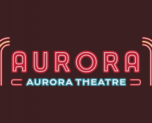 Movie Theatre Logo, logo design, neon logo, branding