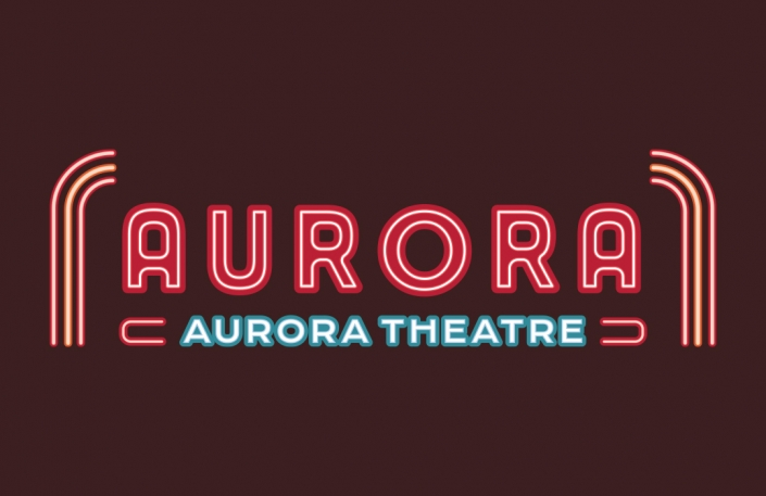 Movie Theatre Logo, logo design, neon logo, branding