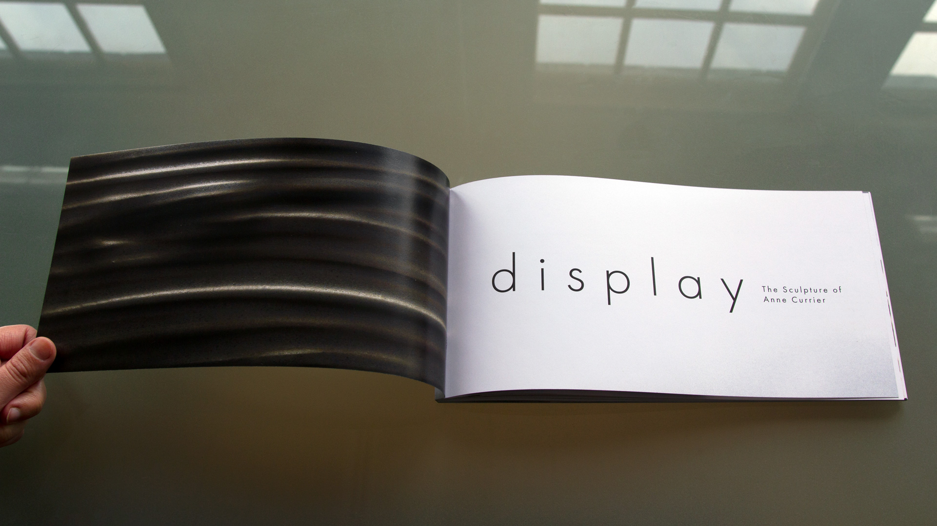 Artists book design, Display, Anne Currier, publication