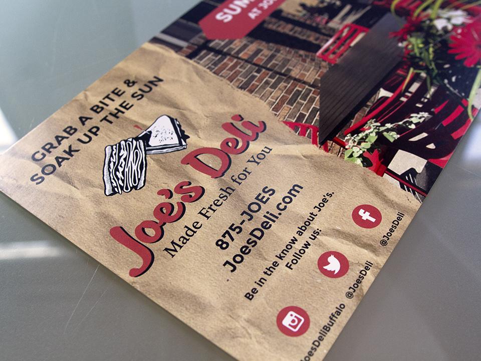 Restaurant Marketing, Buffalo NY, Social media Marketing, Postcard