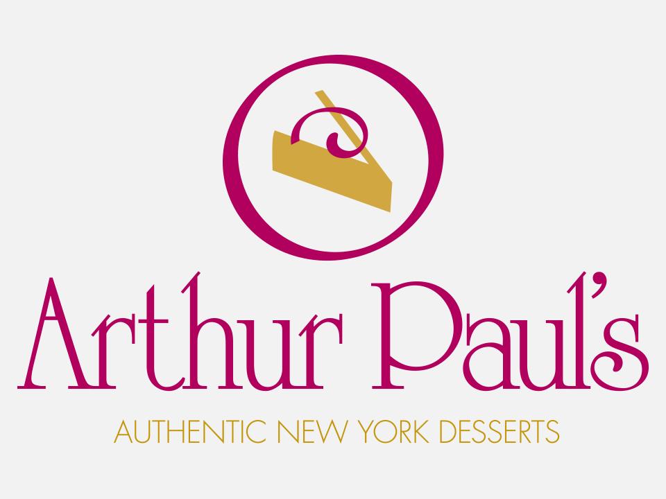 Logo design, branding, dessert, Arthur Paul's, Cheesecake
