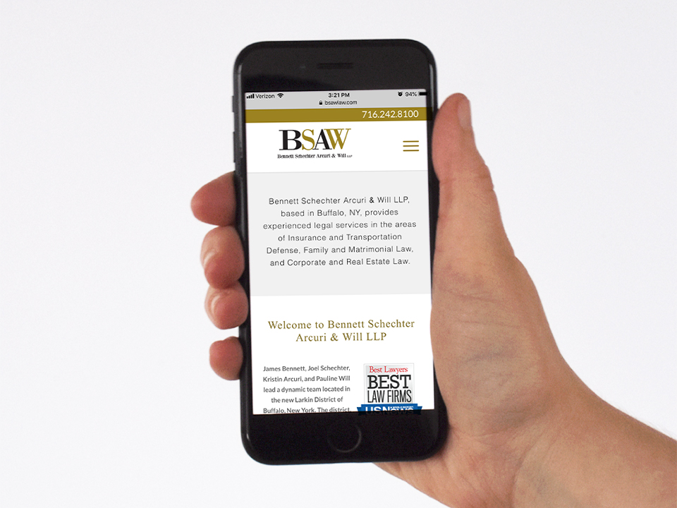 Mobile website design, Law firm, branding