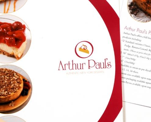 Marketing, brochure design, dessert design, branding, visual identity