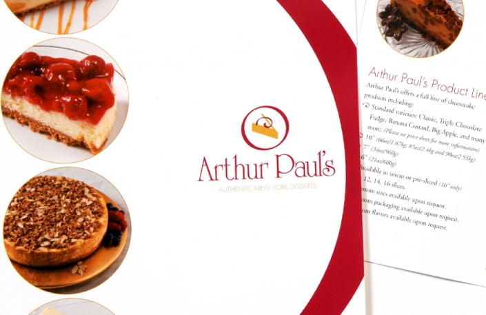Marketing, brochure design, dessert design, branding, visual identity