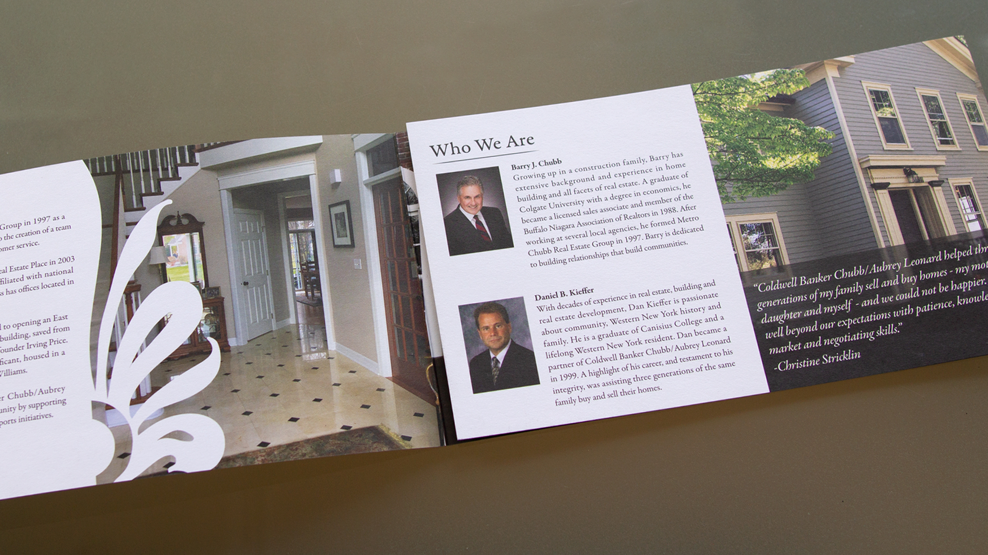 Brochure design, realtor, branding, Western New York