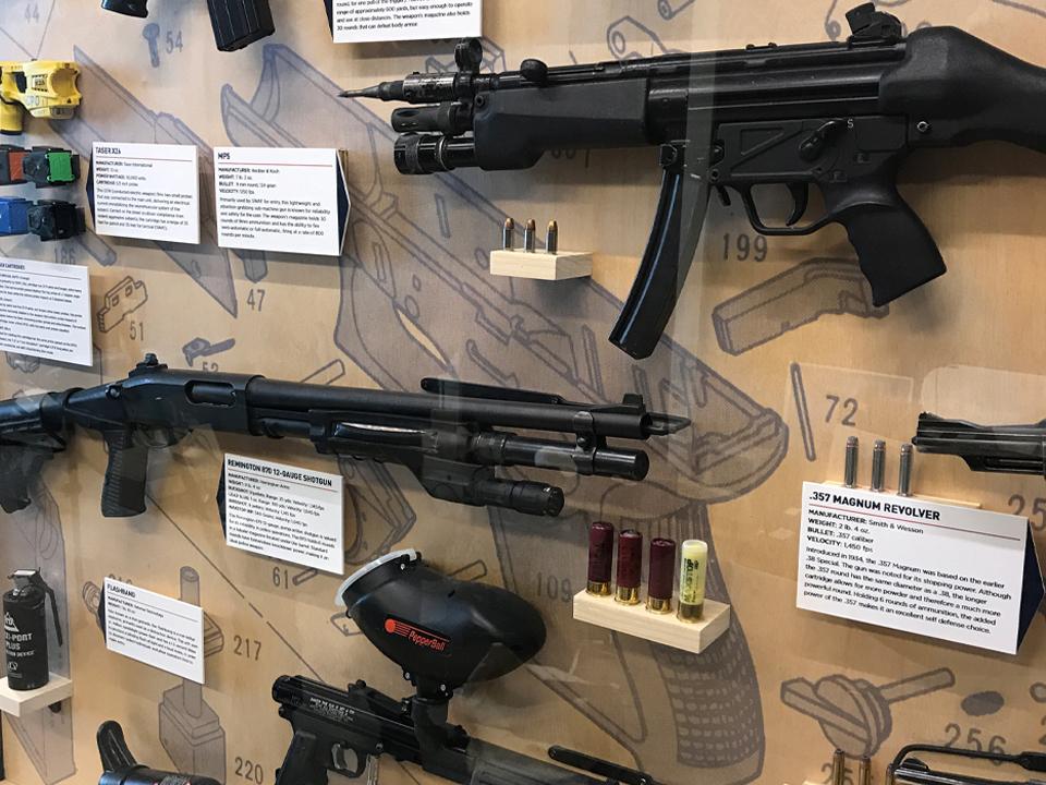 Exhibit design, firearm museum, police museum, taser cartridges