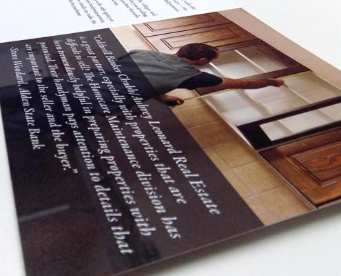 Brochure design, real estate branding, informational design