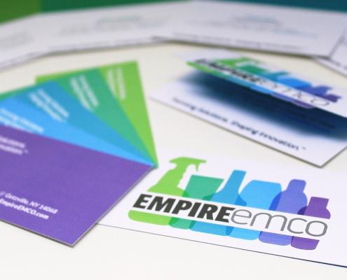 Business card design, green, blue, purple, branding