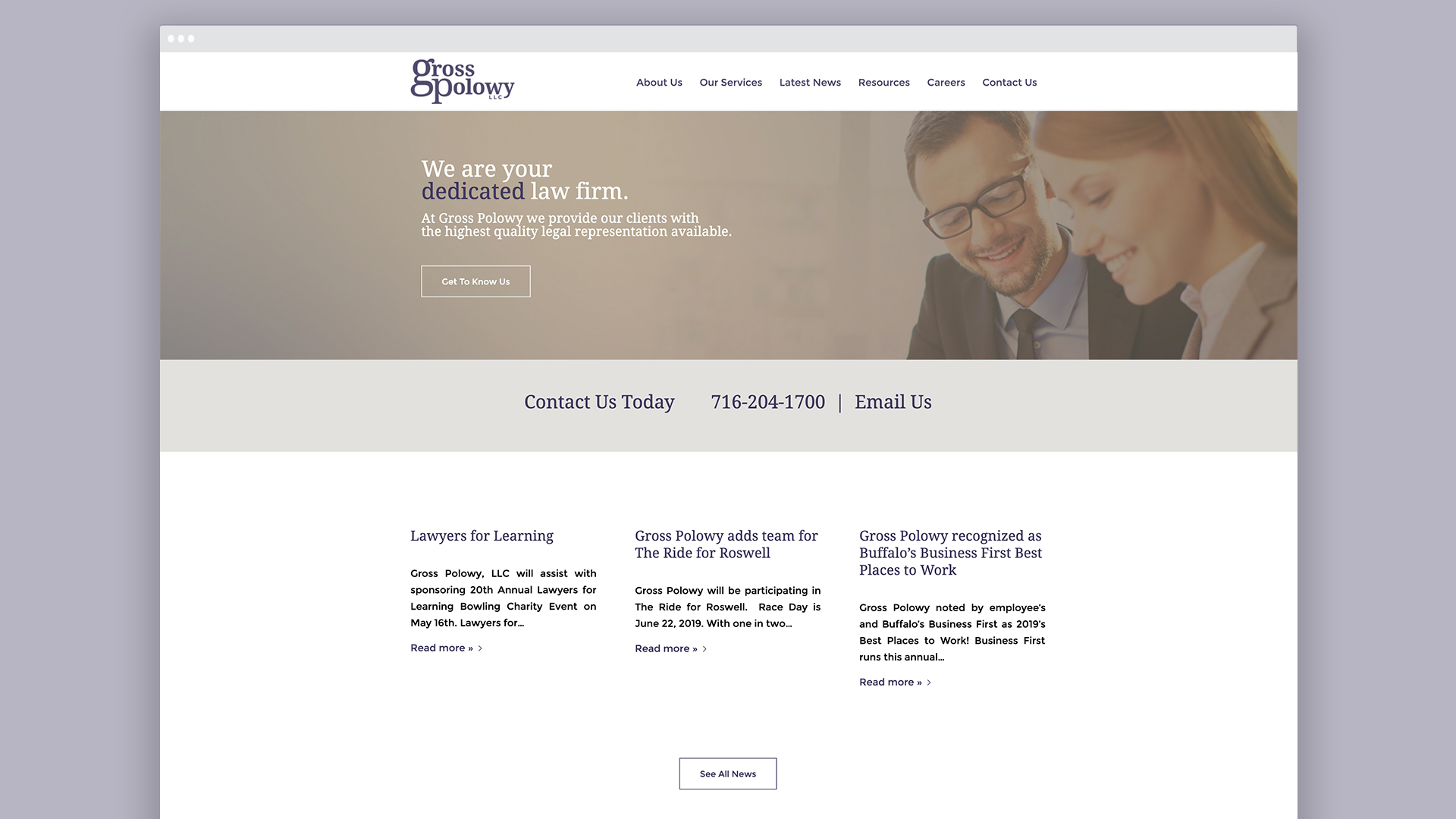 Website design, Law Firm, branding, Buffalo NY, OtherWisz Creative