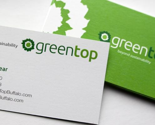 Business card design, landscaping, green, plants