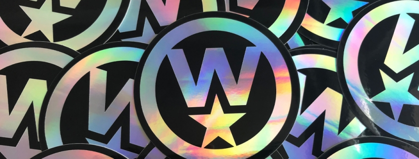 OtherWisz Creative holographic stickers, branded promotional materials