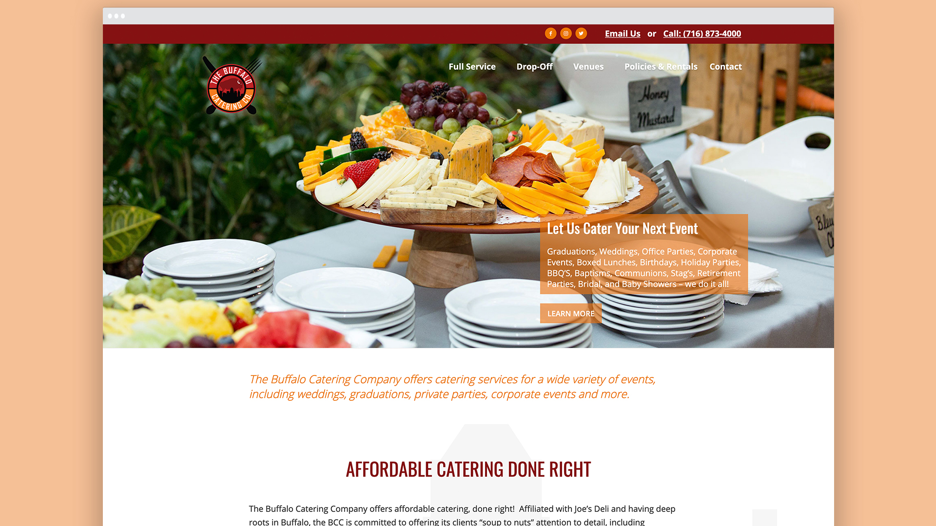 Search engine optimization, Website Design, Graphic Design, Branding, Catering