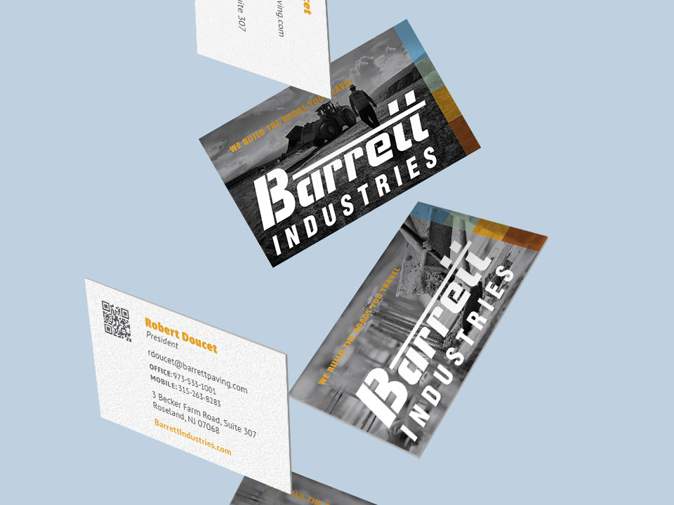 Barrett Industries, Business Cards, Stationery, Graphic Design