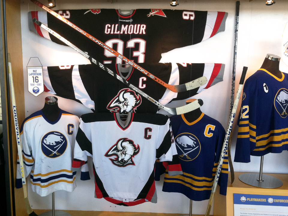Exhibit Design, Exhibit Layout, Buffalo Sabres, Hockey Artifacts