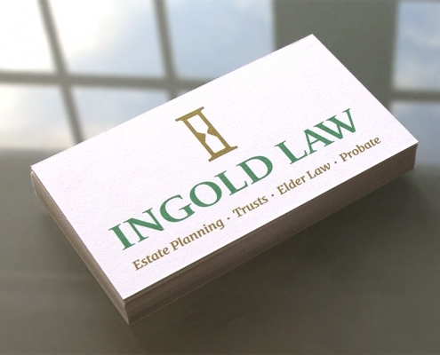 Print Design, Business Cards, Painted Edge, Ingold Law