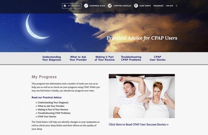 Web Design, Health & Wellness, Online Tools, CPAP