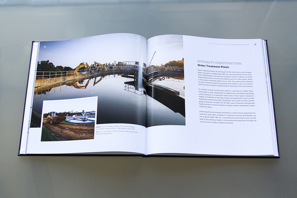 Large photos span both pages in the book design, clustering photos with a descriptive caption. The layout emphasizes the beauty of the photos but provides a comfortable reading experience with the typography.