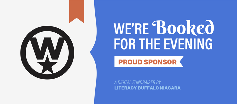 sponsor graphics were created for literacy buffalo to use on social media