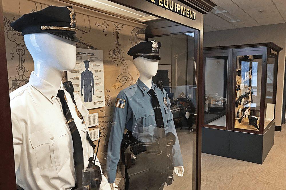 Otherwisz Creative Environmental Brand Design, exhibit design, informational display case for law enforcement
