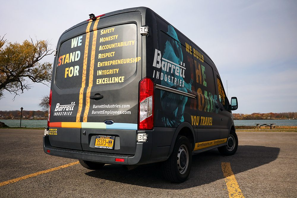 Custom vehicle wrap designed for an infrastructure provider