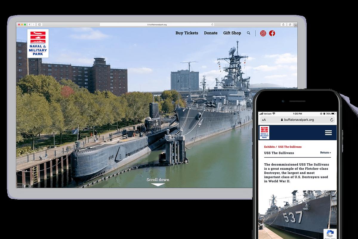 Buffalo Naval & Military Park, Non-Profit Web Design, Affordable Design Servies
