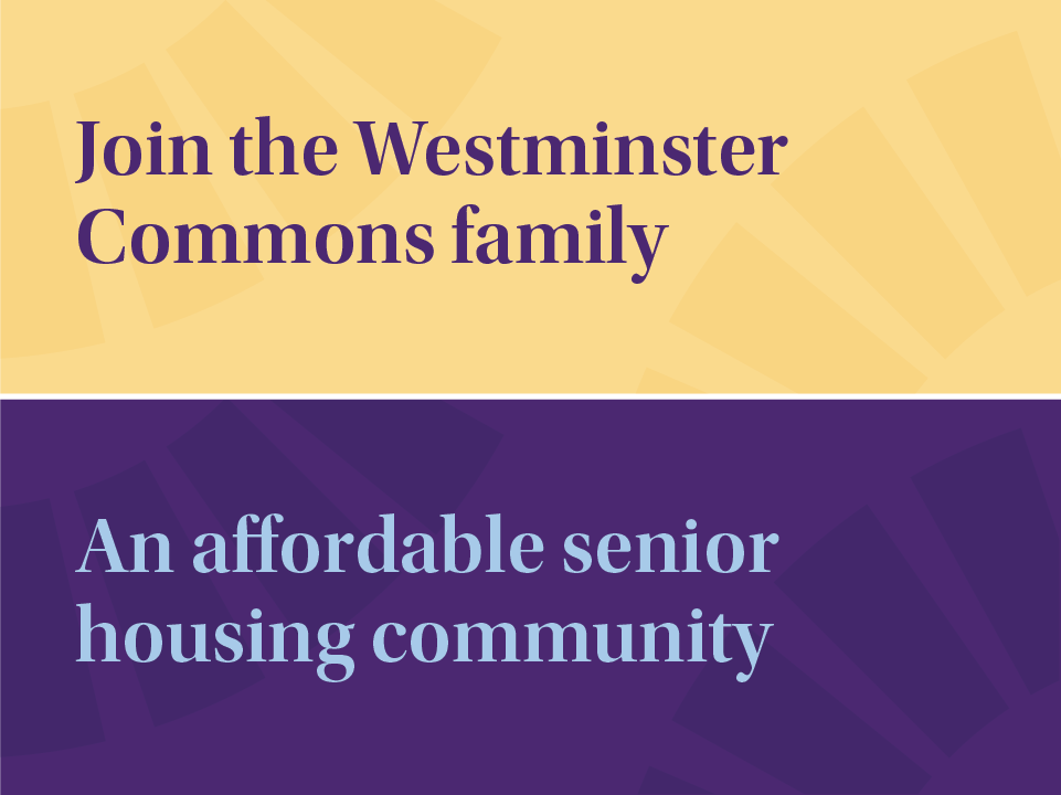 this image shows the senior housing logo and brand in use - with brand colors and fonts working together to inspire