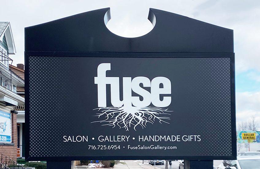 salon exterior signage design, ow|en, environmental brand design